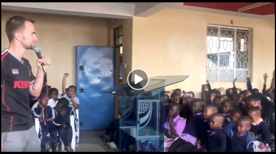 Ministering to Child of Destiny orphan children – Kenya