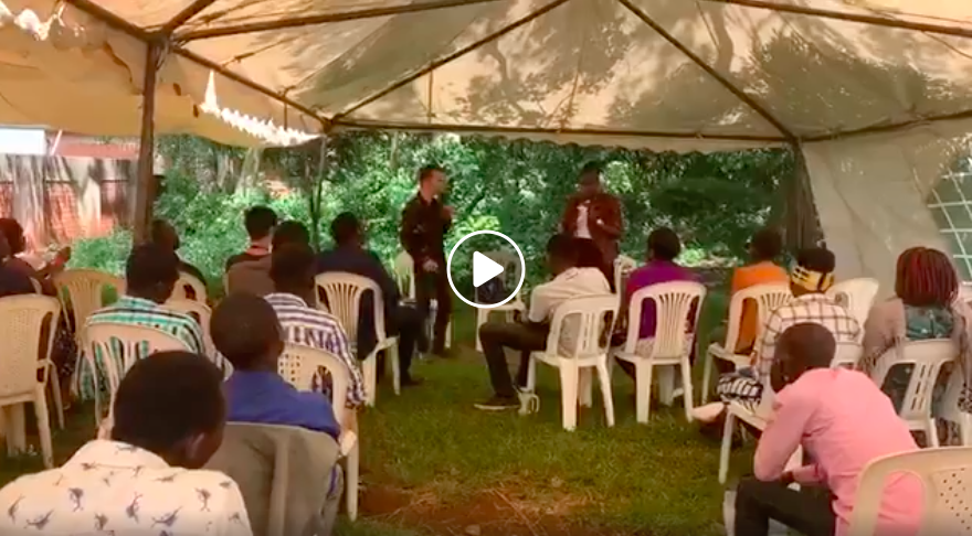 Preaching at Trumpet Camp Uganda 2019