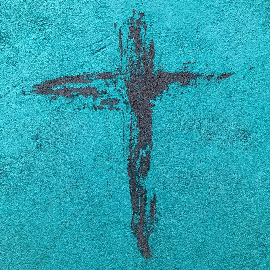 Drawn Cross on the wall