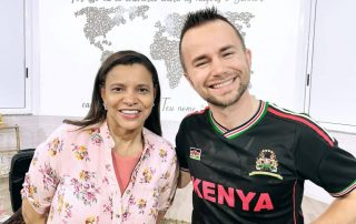 Joshua Lindquist with Ezenete Rodrigues