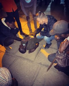 Joshua Lindquist sees a young man getting set free of demons in the streets of Kenya